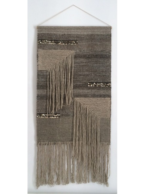 tapis mural diamond varanassi tapis bijou accrocher au mur laine et coton. Black Bedroom Furniture Sets. Home Design Ideas