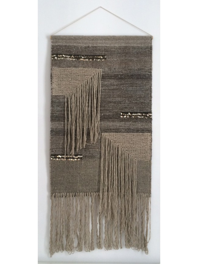 tapis mural vic varanassi freeform weaving laine et coton esprit scandinave. Black Bedroom Furniture Sets. Home Design Ideas