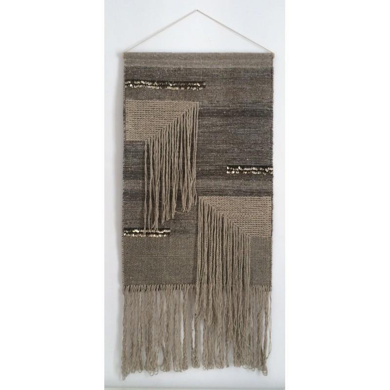 tapis mural diamond varanassi tapis bijou accrocher au mur laine et coton. Black Bedroom Furniture Sets. Home Design Ideas