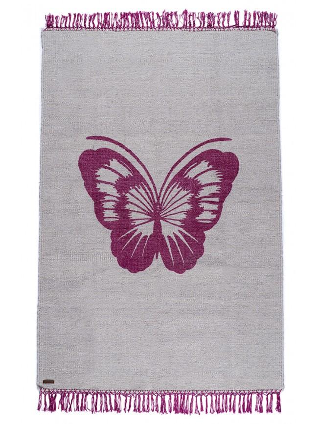 tapis varanassi pop motif toiles 100 laine tissage kilim. Black Bedroom Furniture Sets. Home Design Ideas